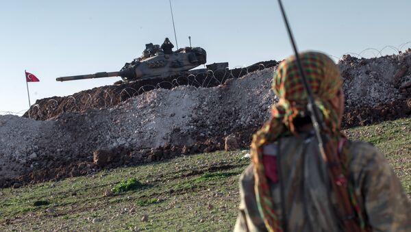 YPG Türk Tankı Esme - Sputnik Türkiye