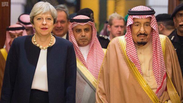 İngileter Başbakanı Theresa May- Suudi Kralı Selman - Sputnik Türkiye