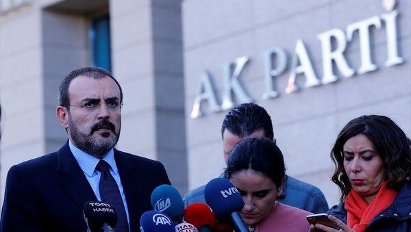 AK Parti Genel Başkan Yardımcısı ve Parti Sözcüsü Mahir Ünal - Sputnik Türkiye