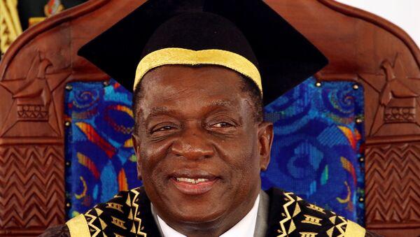 Zimbabve Devlet Başkanı Emmerson Mnangagwa - Sputnik Türkiye