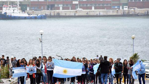 Arjantin'de kayıp denizcilerin yakınlarından protesto - Sputnik Türkiye