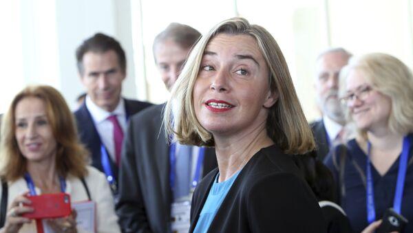 Avrupa Birliği (AB) Dış İlişkiler ve Güvenlik Politikası Yüksek Temsilcisi Federica Mogherini - Sputnik Türkiye