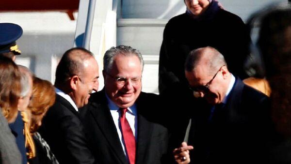 Kotzias - Erdoğan - Sputnik Türkiye