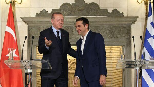 Türkiye Cumhurbaşkanı Recep Tayyip Erdoğan ve Yunanistan Başbakanı Aleksis Çipras - Sputnik Türkiye