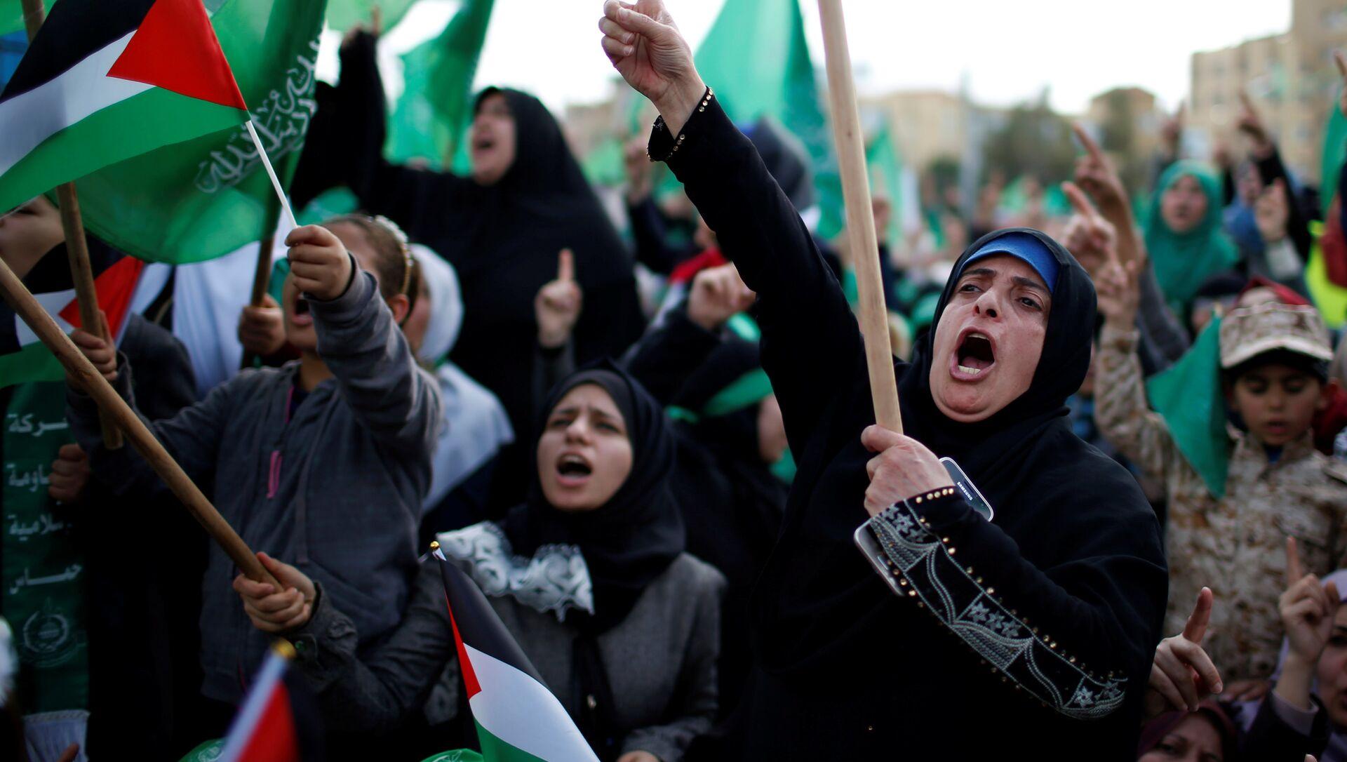Hamas'ın 30'uncu kuruluş yıl dönümü - Sputnik Türkiye, 1920, 18.05.2021