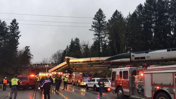 Washington'da tren kazası - Sputnik Türkiye