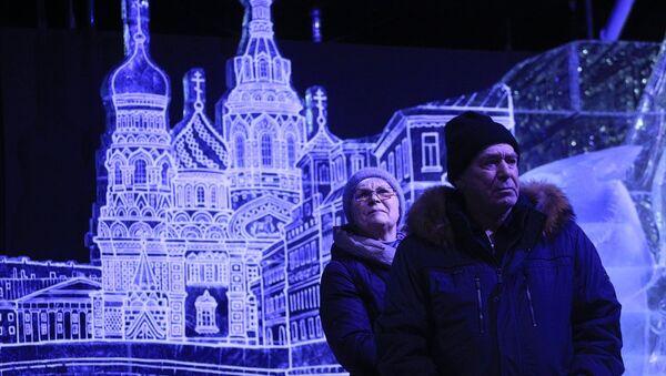 Rusya'nın Saint Petersburg kentindeki Ice Fantasy 2018 Festivali - Sputnik Türkiye