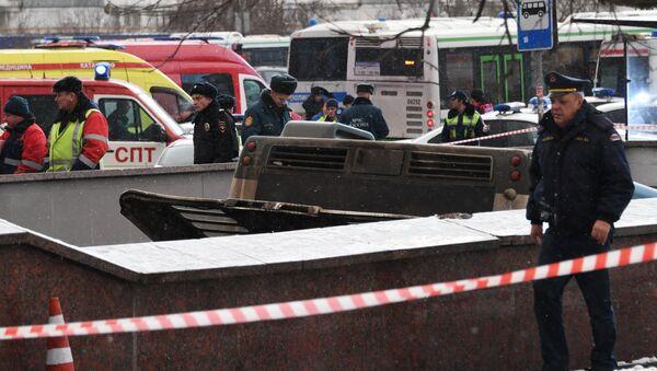 Moskova'da otobüs yayaların arasına daldı - Sputnik Türkiye