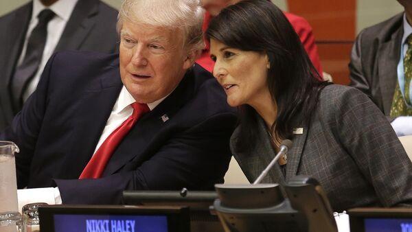 Nikki Haley- Donald Trump - Sputnik Türkiye