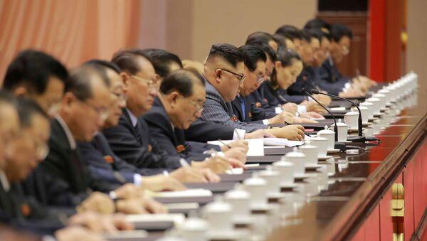 Kuzey Kore lideri Kim Jong-un, Kore İşçi Partisi konferansında - Sputnik Türkiye