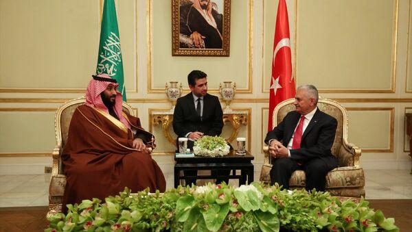 Başbakan Binali Yıldırım ile Suudi Arabistan Veliaht Prensi ve Savunma Bakanı Muhammed bin Selman - Sputnik Türkiye