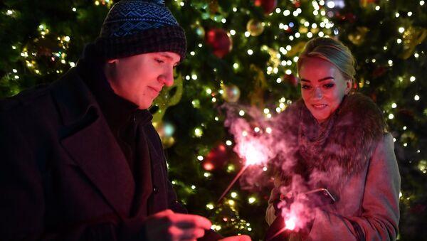 Moskova'da Yeni Yıl kutlaması - Sputnik Türkiye