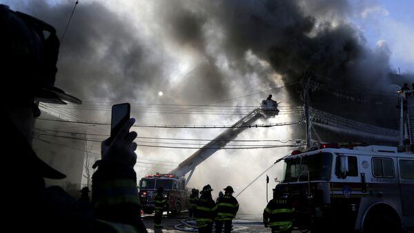 ABD New York Bronx yangın - Sputnik Türkiye