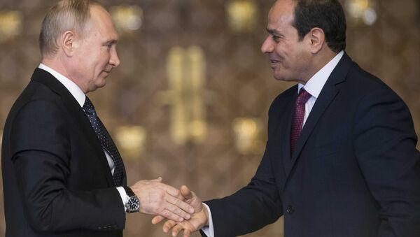 Rusya Devlet Başkanı Vladimir Putin- Mısır Cumhurbaşkanı Abdülfettah el Sisi - Sputnik Türkiye