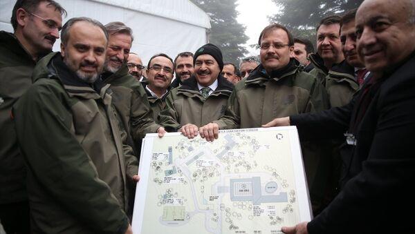 Başbakan Yardımcısı Hakan Çavuşoğlu ile Orman ve Su İşleri Bakanı Veysel Eroğlu, - Sputnik Türkiye