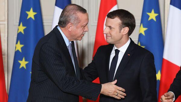 Erdoğan Macron Paris - Sputnik Türkiye
