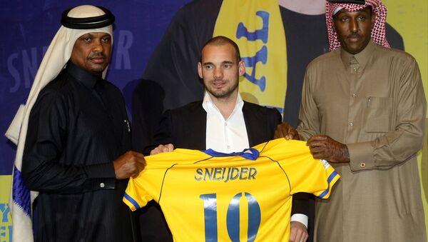 Sneijder, Katar'da basına tanıtıldı - Sputnik Türkiye