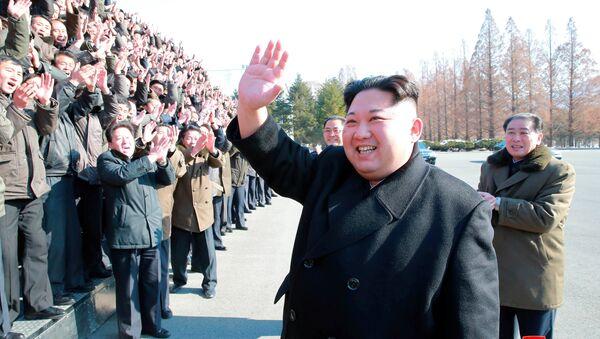 Kuzey Kore lideri Kim Jong-un Devlet Bilim Akademisi'ni ziyaret etti - Sputnik Türkiye