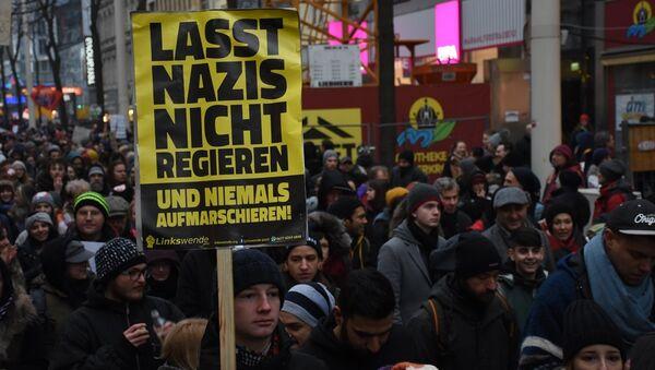 Avusturya'da hükümet karşıtı protesto - Sputnik Türkiye
