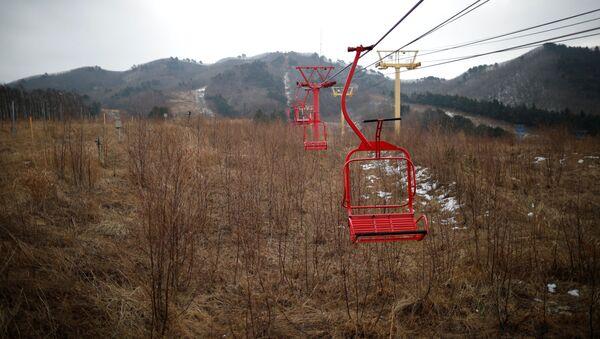 Güney Kore'de hayalet kayak merkezi Alps Ski Resort - Sputnik Türkiye