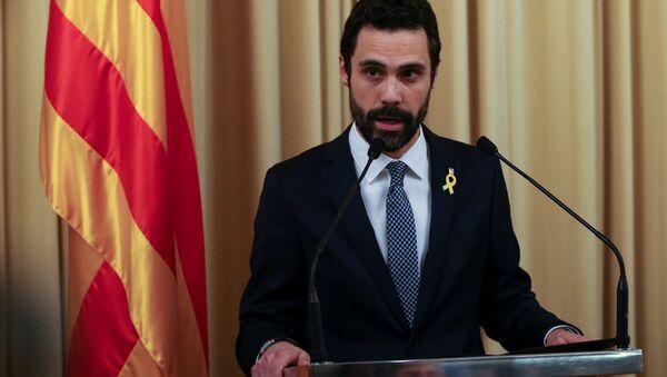 Katalonya Parlamentosu Sözcüsü Roger Torrent - Sputnik Türkiye