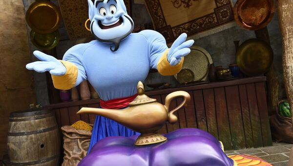 Disney'in 'Aladdin' çizgi filmindeki cin karakteri - Sputnik Türkiye