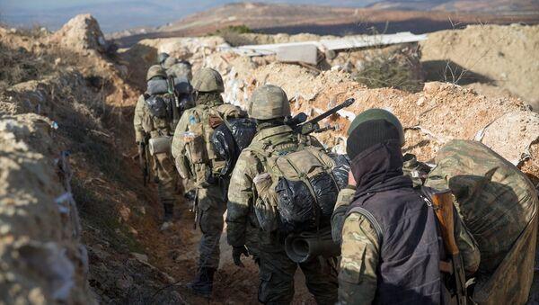 Zeytin Dalı Harekatı'nda Afrin'in kuzeydoğusundaki stratejik Burseya Dağı ele geçirildi. - Sputnik Türkiye