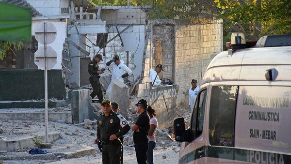 Kolombiya'daki polis noktasına bombalı saldırı - Sputnik Türkiye