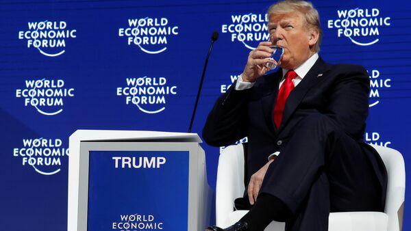 Trump Davos - Sputnik Türkiye