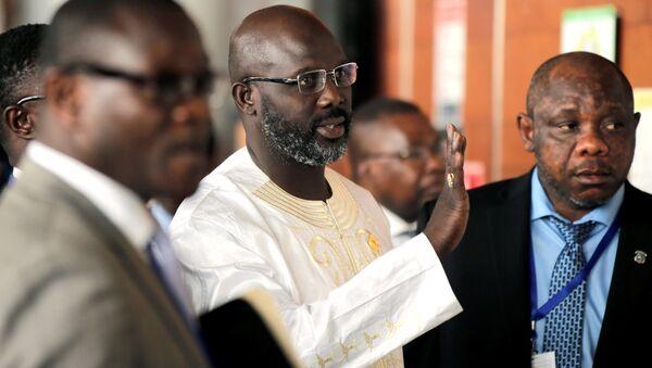 Liberya'nın yeni seçilen devlet başkanı George Weah - Sputnik Türkiye