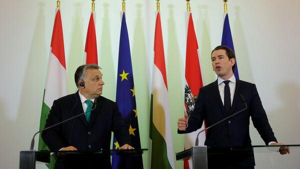 Macaristan Başbakanı Viktor Orban ile Avusturya Başbakanı Sebastian Kurz - Sputnik Türkiye