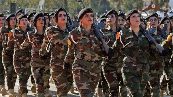 IKBY'de Peşmerge savaşçılarının mezuniyet töreni - Sputnik Türkiye