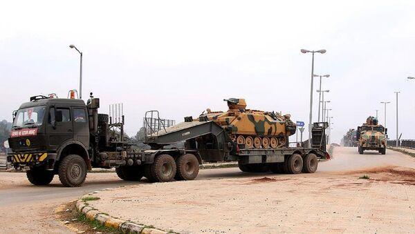 TSK konvoyu yeni gözlem noktası için İdlib'de - Sputnik Türkiye