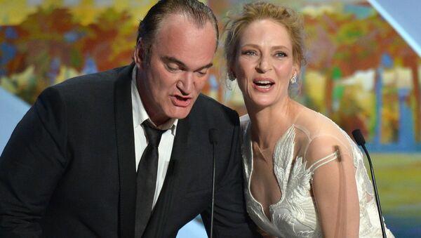 67. Cannes Film Festivali kapanış töreni Quentin Tarantino Uma Thurman 2014 - Sputnik Türkiye