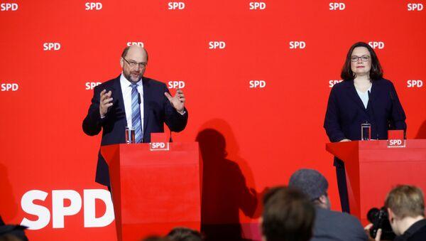 Martin Schulz Andrea Nahles - Sputnik Türkiye