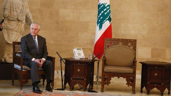 ABD Dışişleri Bakanı Rex Tillerson Lübnan cumhurbaşkanlığı sarayında tek başına beklerken - Sputnik Türkiye