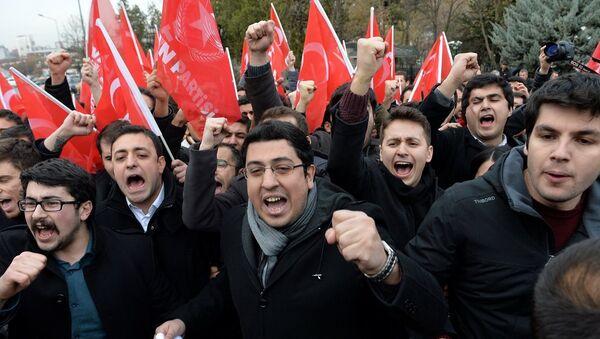 Vatan Partisi Öncü Gençlik üyeleri, Rex Tillerson protesto - Sputnik Türkiye