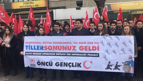 Öncü Gençlik'ten Tillerson protestosuyla ilgili açıklama - Sputnik Türkiye