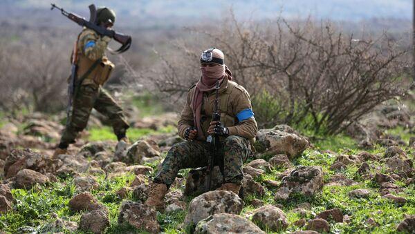 Afrin'deki Türkiye destekli ÖSO savaşçıları - Sputnik Türkiye