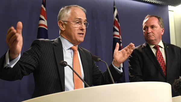 Avustralya Başbakan Malcolm Turnbull Başbakan Yardımcısı Barnaby Joyce - Sputnik Türkiye