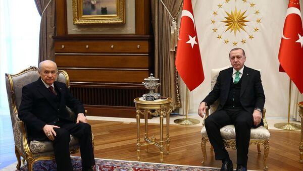 Cumhurbaşkanı Recep Tayyip Erdoğan, MHP Genel Başkanı Devlet Bahçeli - Sputnik Türkiye