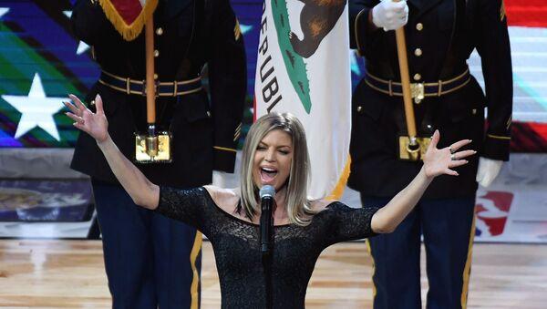 Fergie milli marş 2018 NBA All Star - Sputnik Türkiye
