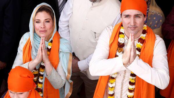 Kanada Başbakanı Justin Trudeau Hindistan'da - Sputnik Türkiye