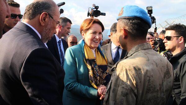 İYİ Parti Genel Başkanı Meral Akşener Hatay'da - Sputnik Türkiye