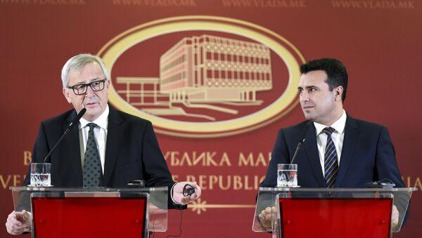 AB Komisyonu Başkanı Juncker Makedonya'da - Sputnik Türkiye