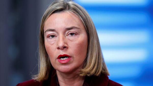 Avrupa Birliği'nin (AB) Dış İlişkiler ve Güvenlik Politikasından Sorumlu Yüksek Temsilcisi Federica Mogherini - Sputnik Türkiye