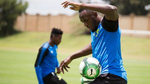 Usain Bolt Mamelodi Sundowns antremanı Johannesburg Güney Afrika - Sputnik Türkiye