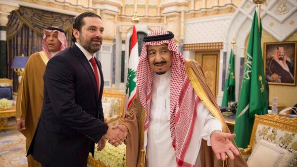 Suudi Arabistan Kralı Selman bin Abdulaziz- Lübnan Başbakanı Saad Hariri - Sputnik Türkiye