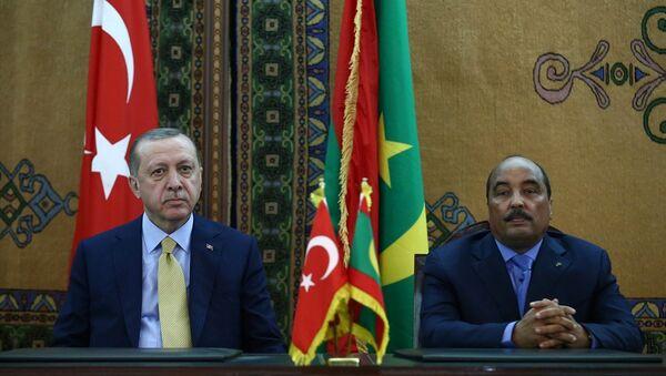 Cumhurbaşkanı Recep Tayyip Erdoğan, Moritanya Cumhurbaşkanı Muhammed Veled Abdulaziz ile Cumhurbaşkanlığı Sarayı'nda bir araya geldi - Sputnik Türkiye