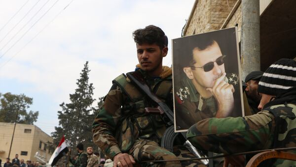 Beşar Esad- Afrin'deki Suriye hükümet güçleri - Sputnik Türkiye